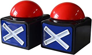 2Pcs Game Answer Buzzer Alarm Button Box with Sound Light Party Contest Prop Toy, Trivia Quiz Got Talent Buzzer for Kids Adult