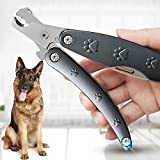 Best Dog Nail Trimmer for Anxiety Sensitive Dog, Quiet Sharpest Smoothest Dog Nail Grinder for X Large Medium Small Size Breed, Heavy Duty Metal Dog Nail Clippers for