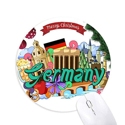 Neue Swan Stone Castle Bier Deutschland Graffiti Round Rubber Mouse Pad Weihnachtsbaum Mat