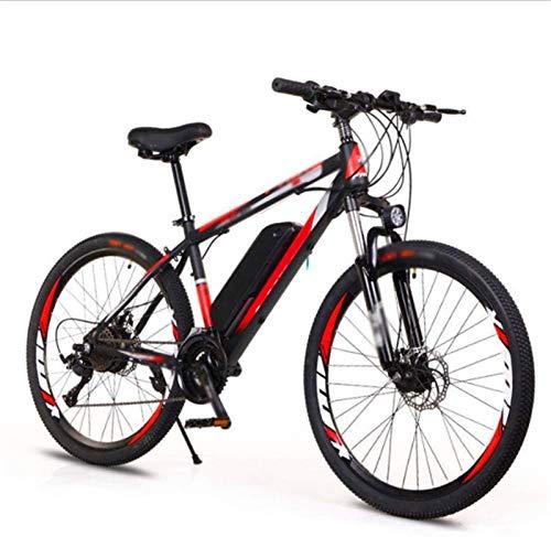 WJSWD Bicicleta de nieve eléctrica de 26 pulgadas, bicicleta eléctrica 36V10A, doble freno de disco LED, faros adaptativos para exteriores, ciclismo, viajes, batería de litio para adultos