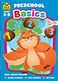School Zone - Preschool Basics Workbook - 64 Pages, Ages 3 to 5, Colors, Numbers, Counting, Matching, Classifying, Beginning Sounds, and More (School ... Workbook Series) (Deluxe Edition 64-Page)