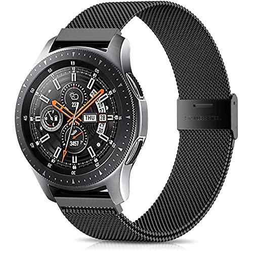 Epova Kompatibel mit Samsung Galaxy Watch 3 45mm Armband/Galaxy Watch 46mm Armband, 22mm Mesh Metall Uhrenarmband für Samsung Gear S3 Frontier/S3 Classic/Huawei GT 2 46mm für Herren Damen,Schwarz