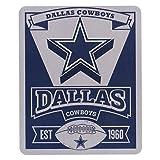 Northwest 031 Marque Throw NFL Marquee Logo Lightweight Fleece Blanket (Dallas Cowboys)