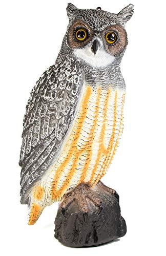 mgc24® Waldohreule Hedwig - Gartendeko Tierfigur Taubenschreck Vogelabwehr