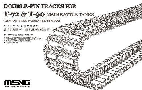 Meng SPS-030 modelbouwaccessoires Double-pin Tracks voor T-72 en T-90 Main Battle Tanks Cement-Free Work, spel