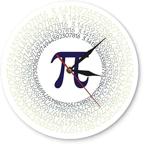 Relojes De Pared Matemática Constante Pi Letra Griega 3,14 Arte De Pared Relación Matemática Reloj De Pared Contemporáneo Impresión En Color Reloj De Pared De Acrílico Reloj De Pared-30X30Cm