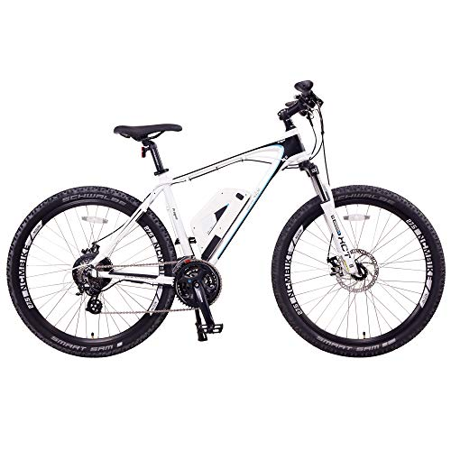 NCM Prague Electric Mountain Bike 468Wh 36V/13AH Matte White 26'