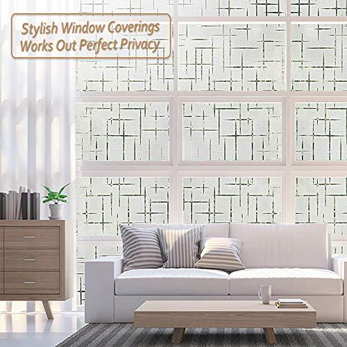 Adhesivos de ventana 3D, adhesivos de ventana estática de película de privacidad, calcomanías de ventana de vinilo anti UV de control de calor Adhesivo de ventana para puerta de vidrio Oficina