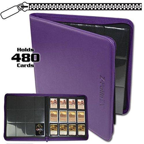 BCW Z-Folio LX Zipper Portfolio Purple 12 Pocket Playset Album