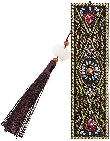 Soleebee Diamond Painting Bookmarks 5D DIY Book Marks Beaded Tassel Book Marks Art Craft Mosaic product image