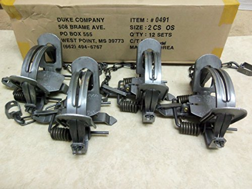 4 Duke #2 CS Offset Traps 5.5 jaw Spread Raccoon Bobcat Coyote Fox Wildlife 0491