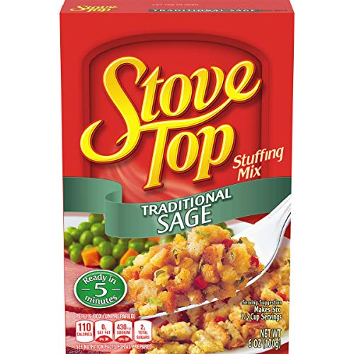 packaged stuffing side dishes Stove Top Traditional Sage Stuffing Mix (6 oz Boxes, Pack of 12)