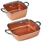 Best Chef Cookwares - Copper Chef 4-Piece Deep Casserole Pan Set Review
