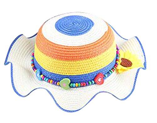 Filles Chapeau de soleil Princesse Hat Chapeau Respirant Summer Beach Hat [B]