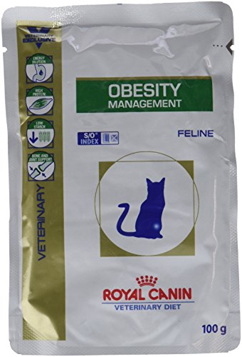 Royal Canin Veterinary Diet Katzen Adipositas Management Katzenfutter - 12 x 100 g