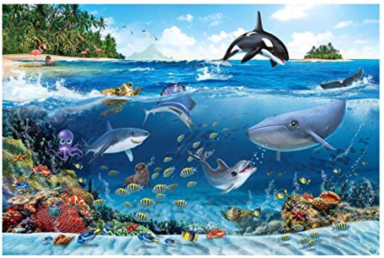 Vliestapete - Unterwasserwelt mit Tieren - Fototapete Breit 225 x 336 cm