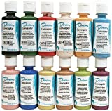 Duncan CNKIT-1 Concepts Underglaze Paint Set, 12 Popular Colors in 2 Ounce Bottles with How To Paint Ceramics Book