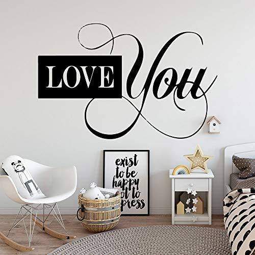 Künstlerische Liebe Sie Vinyl Wandaufkleber für Wohnzimmer Schlafzimmer Dekoration Aufkleber Wandbild Soft Pink M 30cm x 46cm