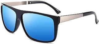Fashion Men Business Driving Sun Glasses Vintage Modis Square Eyewear Retro Polarized Sunglasses Retro (Color : Blue)