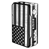 Skin Decal Vinyl Wrap for VooPoo Drag 157W TC Vape Stickers Skins Cover/Black White Grunge Flag USA America