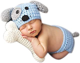 Newborn Baby Photography Photo Props Boy Girl Costume Outfits Doggy Hat Pants