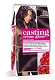 L'Oréal Paris Casting Crème Gloss Coloration Ton Sur Ton Sans Ammoniaque 3.16 Prune Exquise Lot de 2
