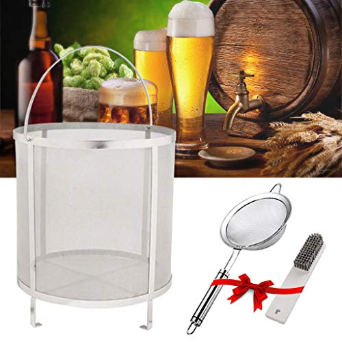 psler 13.8×13.8 inch (35×35cm) Wine Beer Dry Hops Filter Brewing Hopper Spider Strainer 300 Micron...