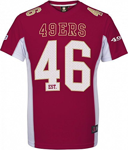 Majestic NFL SAN FRANCISCO 49ers Moro Mesh Jersey T-Shirt, Größe:L