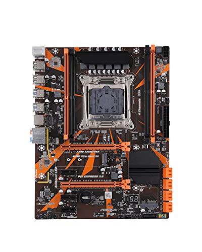 GIAO Placa Base de Escritorio X99 LGA 2011-3 con Ranura M.2 NVME WiFi Compatible con Canales duales DDR4 ECC SATA3.0 USB3.0