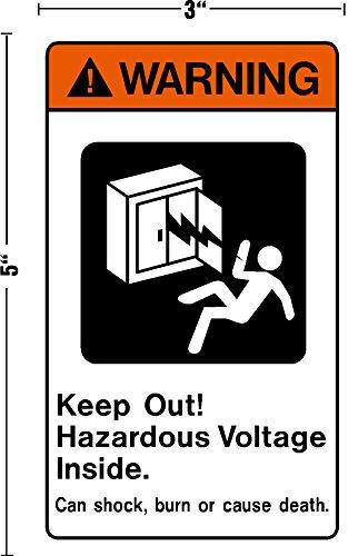 Warning Keep Out Hazardous Voltage Inside, I Make Decals, Decal Sticker Placard 3