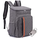 Insulated Cooler Backpack, Ingkee Leakproof 25 Cans Cooler Bag Lightweight Soft Outdoor Backpack for...