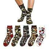 GJKS Socken Men's Socks_Men's Camouflage Socks Baumwollsocken Navy Wind Europäische Und Amerikanische Windtrends