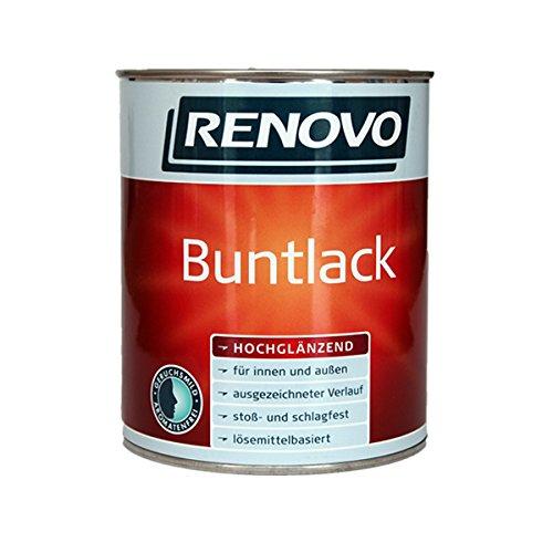 Renovo schwarzer hochglanz Bunt-Lack 2,5 l für innen und außen