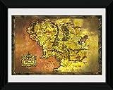 1art1 Der Herr Der Ringe - Landkarte Von Mittelerde