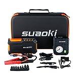Suaoki Jump Starter G7 PLUS Avviatore di Emergenza Auto 18000mAh 600A Compressore Portatile in...