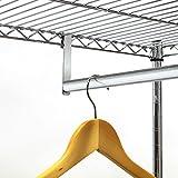 Artmoon Buffalo   Schwerlast Kleiderschrank mit 2 Ablagen und Hängestangen   Stoffschrank auf Rollen   Einfache Montage   20 Kleiderbügel und 50 kg Lasten   Abmessungen: 75x45x150 cm - 4