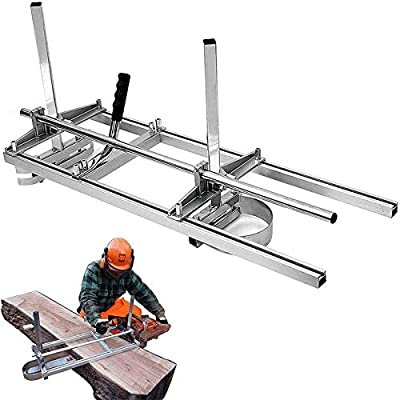 """SurmountWay Portable Chainsaw Mill Planking Milling from 14"""" to 36"""" Guide Bar Wood Lumber Cutting Sawmill Aluminum Steel Chainsaw Mills for Builders and Woodworkers (14''-36'')"""
