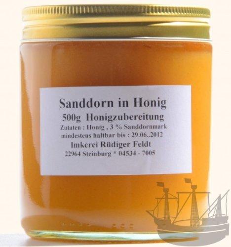 Sanddorn in Honig, Norddeutsche Spezialität, 500g