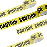 Avvertenza di Pericolo Giallo Nero, HOSPAOP Nastro di Avvertimento, Nastro di Sicurezza di Pericolo, Nastro Adesivo di Sicurezza Non Appiccicoso per Veicoli Auto Rimorchi Biciclette (100M*7.5CM)