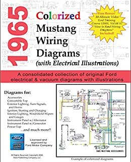 1965 Colorized Mustang Wiring Diagrams - Kindle edition by Motor Company,  Ford. Crafts, Hobbies & Home Kindle eBooks @ Amazon.com. | Ford Motor Company Wiring Diagrams |  | Amazon.com