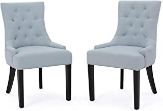Noble House Dining Chair in Light Sky - Set of 2