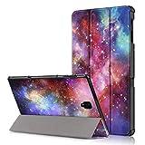 FanTing Samsung Galaxy Tab S4 10.5 Cover, Ultrasottile Custodia in Pelle PU, con Stand per Samsung Galaxy Tab S4 10.5 -Galassia