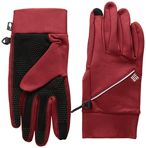 Columbia Guantes de running para hombre, M Trail Summit Running Glove, Poliéster, Rojo (Red Element), Talla L, 1827821