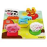 Meiyiu 3D Hand Grip Puzzles Bloques de construcción Juguete de Madera Kindergarten Educación temprana Puzzles Toy Blanco