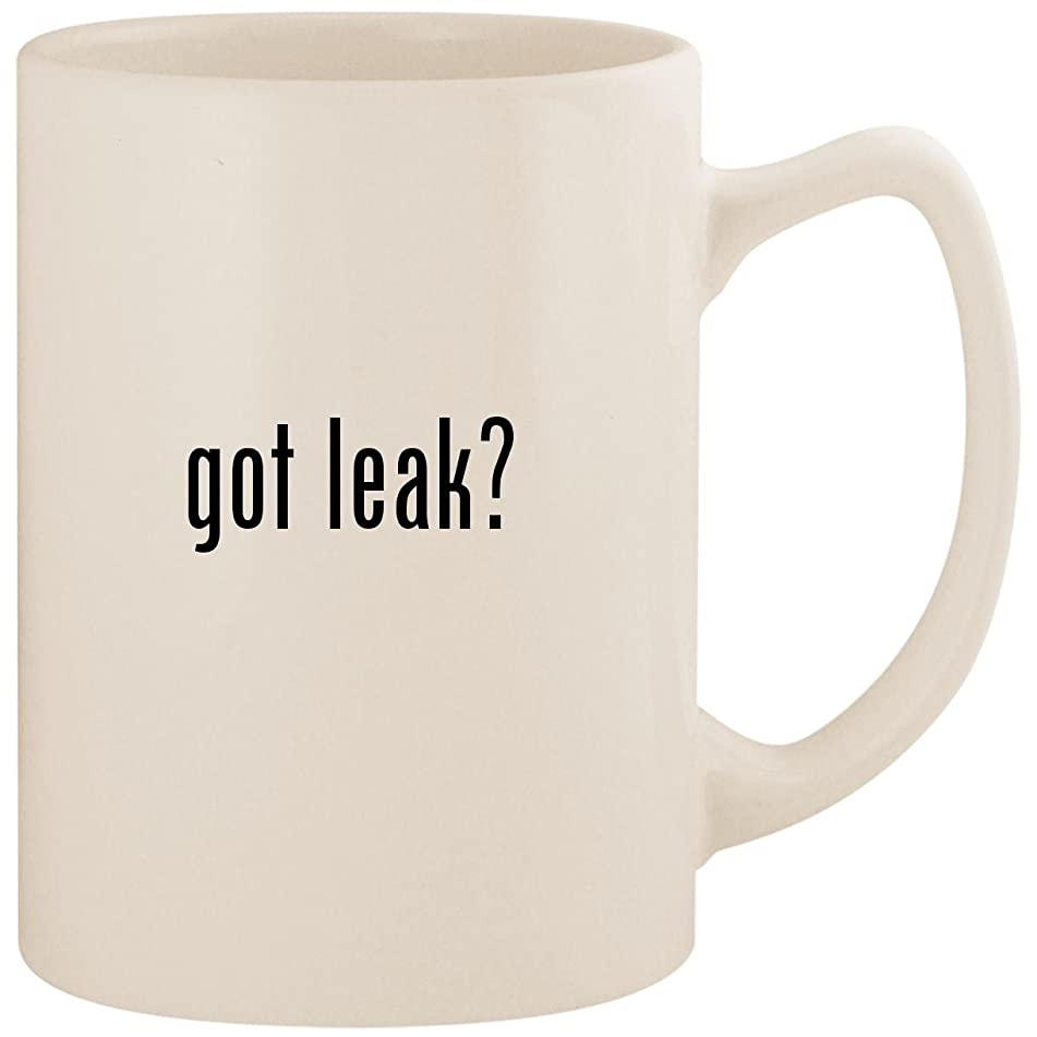 got leak? - White 14oz Ceramic Statesman Coffee Mug Cup