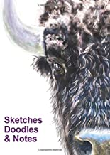 Sketch Book   Sketches Doodles & Notes: Size 8.5 x 11 Inches 132 Pages   Bison Portrait Cover Art   Sketchbook For Doodling, Sketching, And Notes.