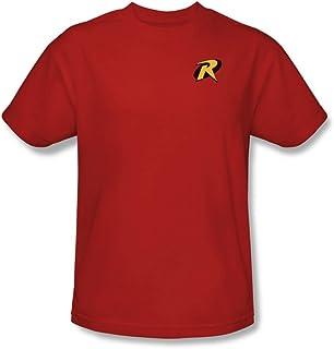 Trevco Men's Batman and Robin Robin Logo T-Shirt, Red