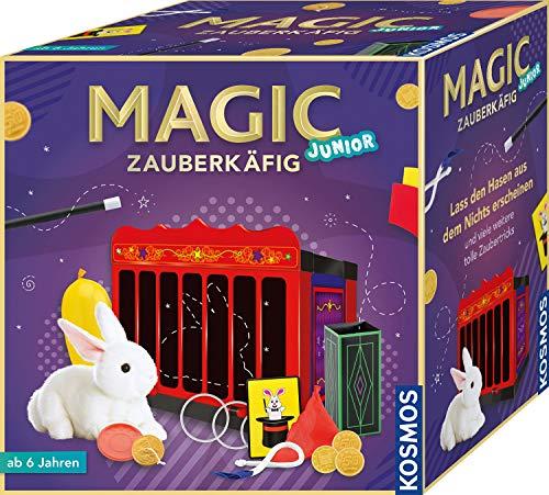 Kosmos MAGIC Zauberkäfig, Lass den Hasen aus dem Nichts erscheinen, 16 Zauber-Tricks, magische Zauber-Utensilien, Zauberkasten für Kinder ab 6 Jahre, kindgerechte bebilderte Anleitung