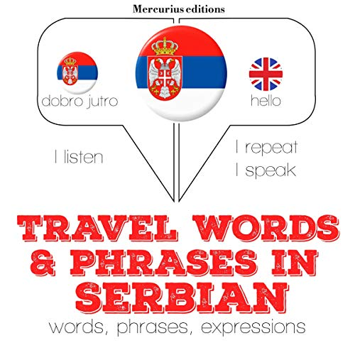 Travel words and phrases in Serbian audiobook cover art