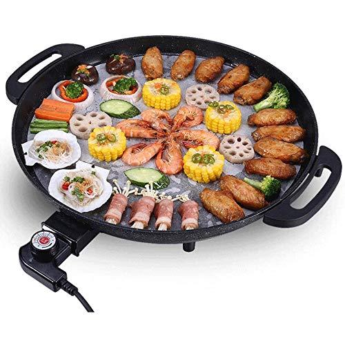 CHENMAO Bolas de Masa frita eléctricos -BBQ Grill Pan |Placa de quemadores...